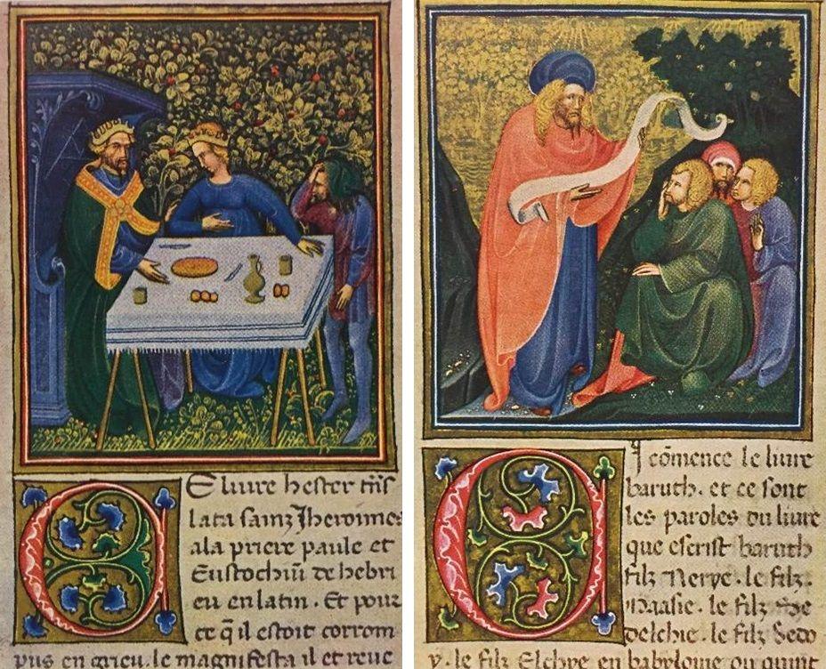 Belbello da Pavia from the Bible of Niccolò III in Sergio Samek Ludovici, Miniature di Belbello da Pavia: dalla Bibbia Vaticana e dal Messale Gonzaga di Mantova (Milan: Aldo Martello Editore, 1954).