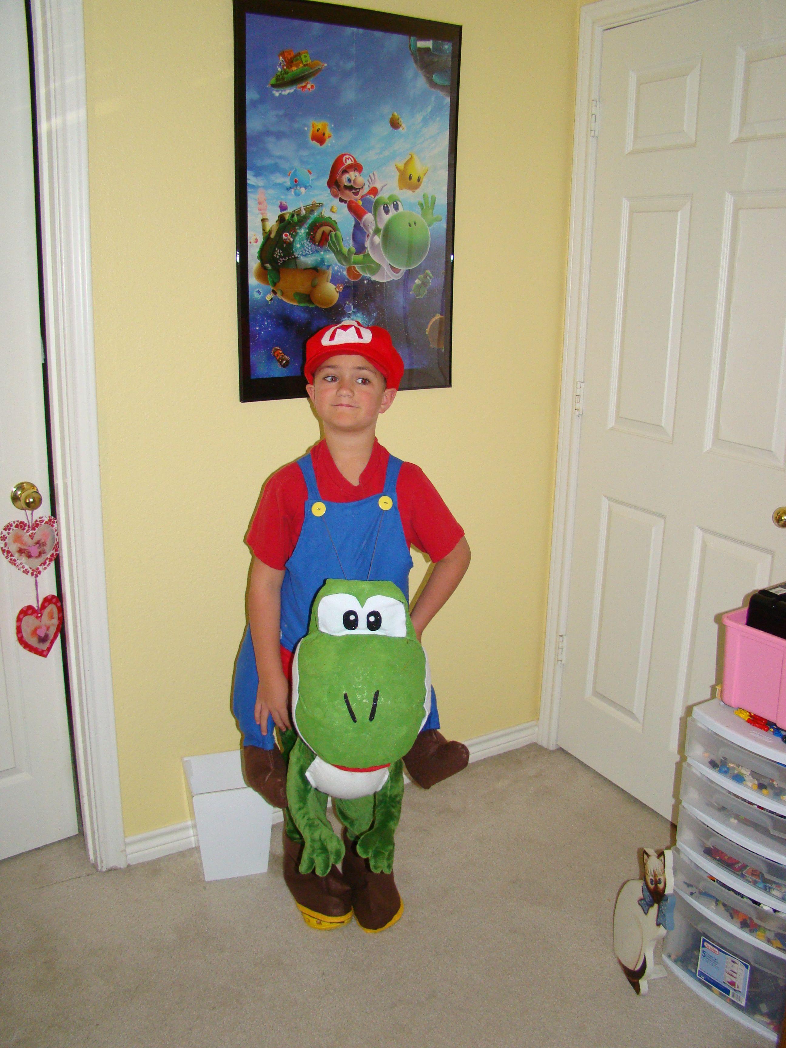 Mario riding Yoshi costume | For the Kiddies | Pinterest | Yoshi ...