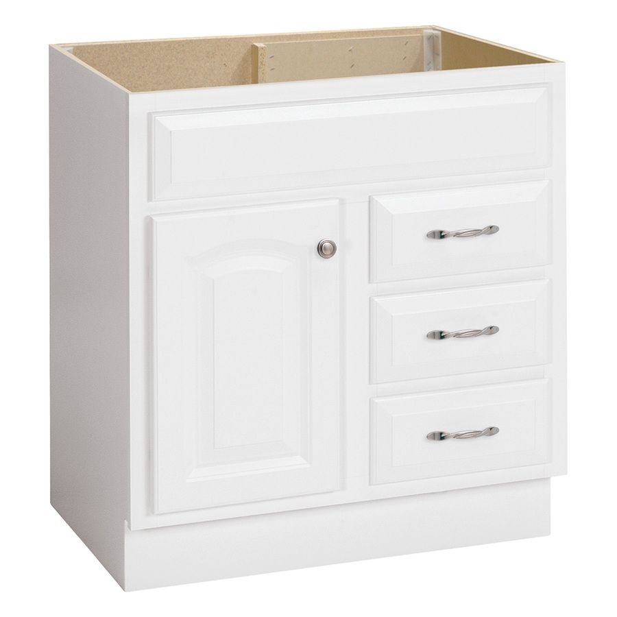 Exceptionnel Project Source White Traditional Bathroom Vanity (Common: 30 In X 21 In