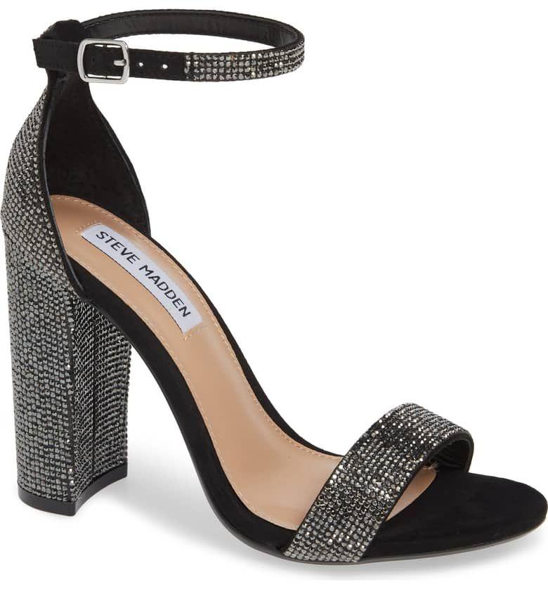 3fe95adcf4b Steve Madden#black ankle strap sandal with chunky heel#affiliatelink ...