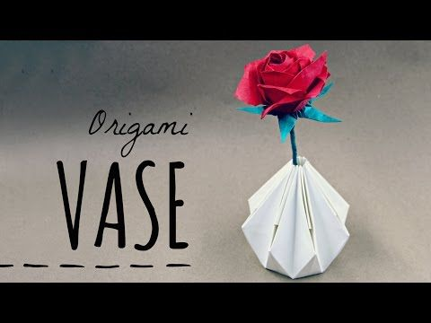 How To Make An Origami Vase Tadashi Mori Youtube Origami