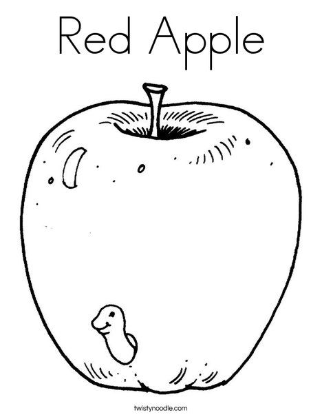 Red Apple Coloring Page Apple Coloring Pages Printable Coloring Pages Candy Coloring Pages