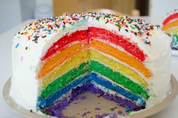 Rahasia Lembutnya Rainbow Cake Kukus Ny Liem dan Cara Membuat