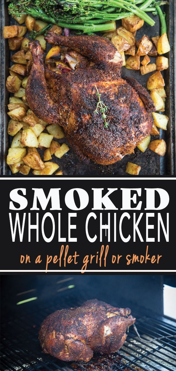 Smoked Whole Roaster Chicken #grillingrecipes