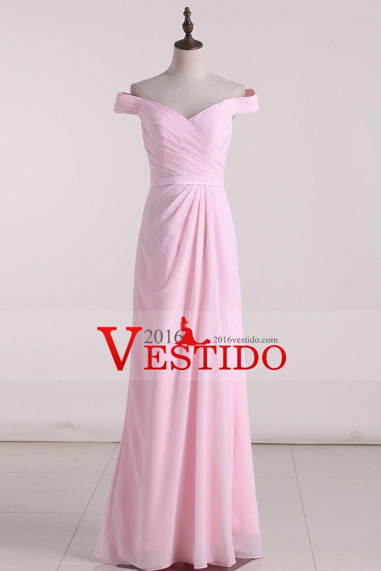 sexy cuello en v y espalda abierta de la dama de honor vestidos
