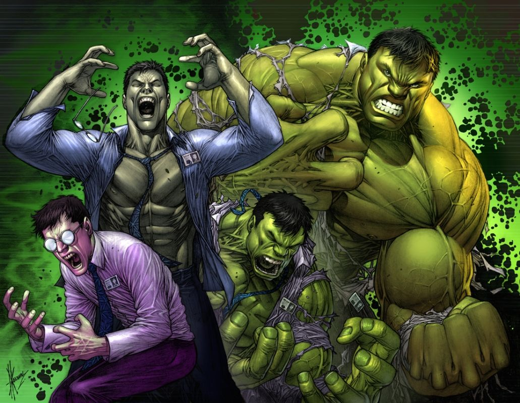 dale keown hulk transformation colors comic art marvel