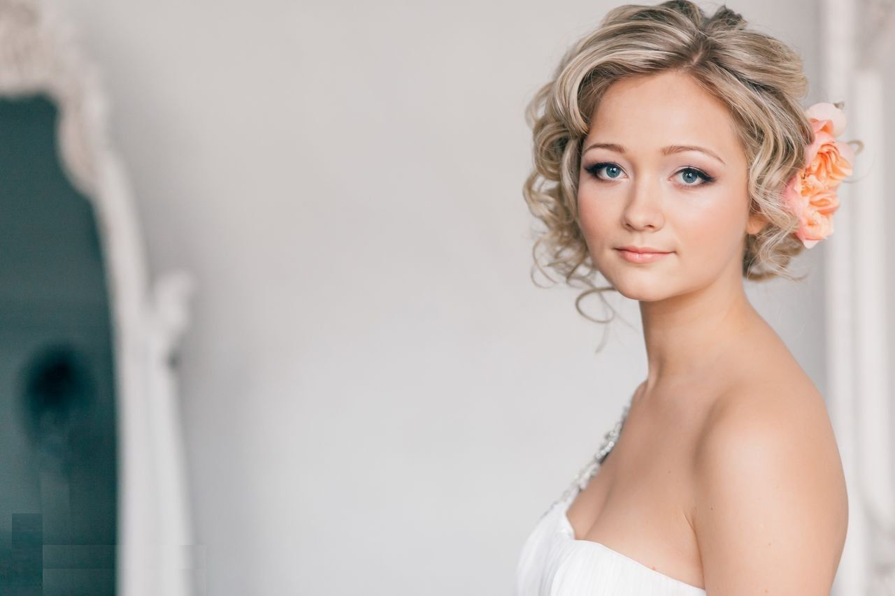 Cute Wedding Hairstyles For Short Curly Hair
