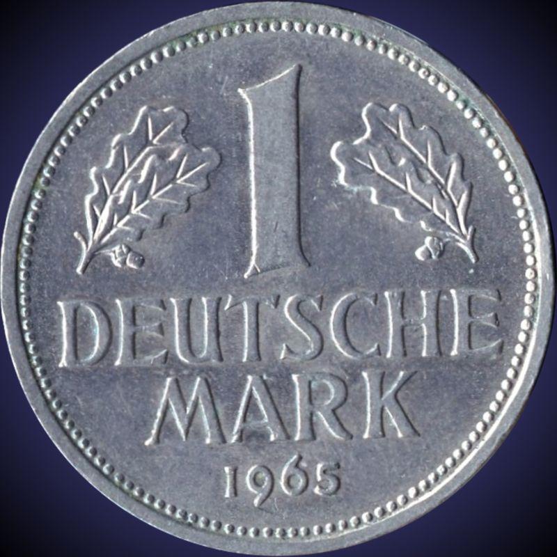 Collecters Item 1965 D Germany 1 Mark Coin Bilder Marken