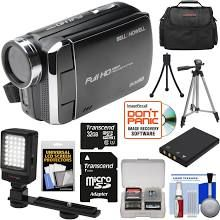 Bell and Howell Bell & Howell DV30HD 1080p HD Video Camera Camcorder (Black) with 32GB Card + Battery + Case + Tripods + LED Video Light + Kit with Bell & Howell USA