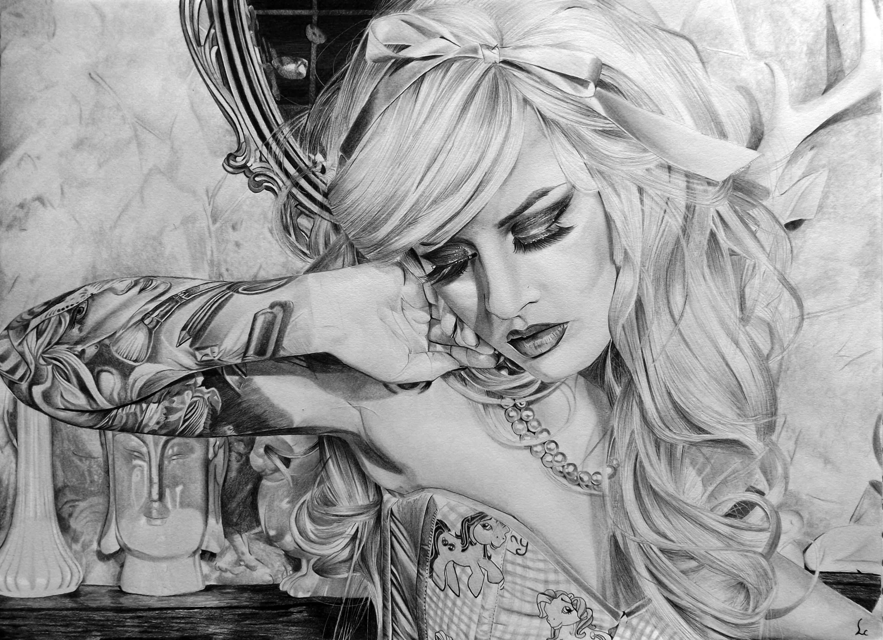 Kelly Eden  by Portrait Lc #art #portrait #tattoo  https://www.facebook.com/PortraitLc