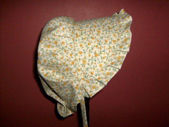 SUN84 Amarillo Rose Baby Bonnet, this is the last of this ultra soft cotton  Order SUN84 @ Catalog http://www.GrandmasGirl.com/Sunbonnets.aspx