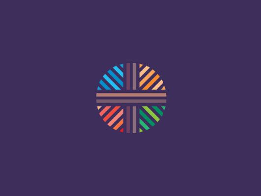 modern and colorful logo for cross point church by sean heisler on dribble