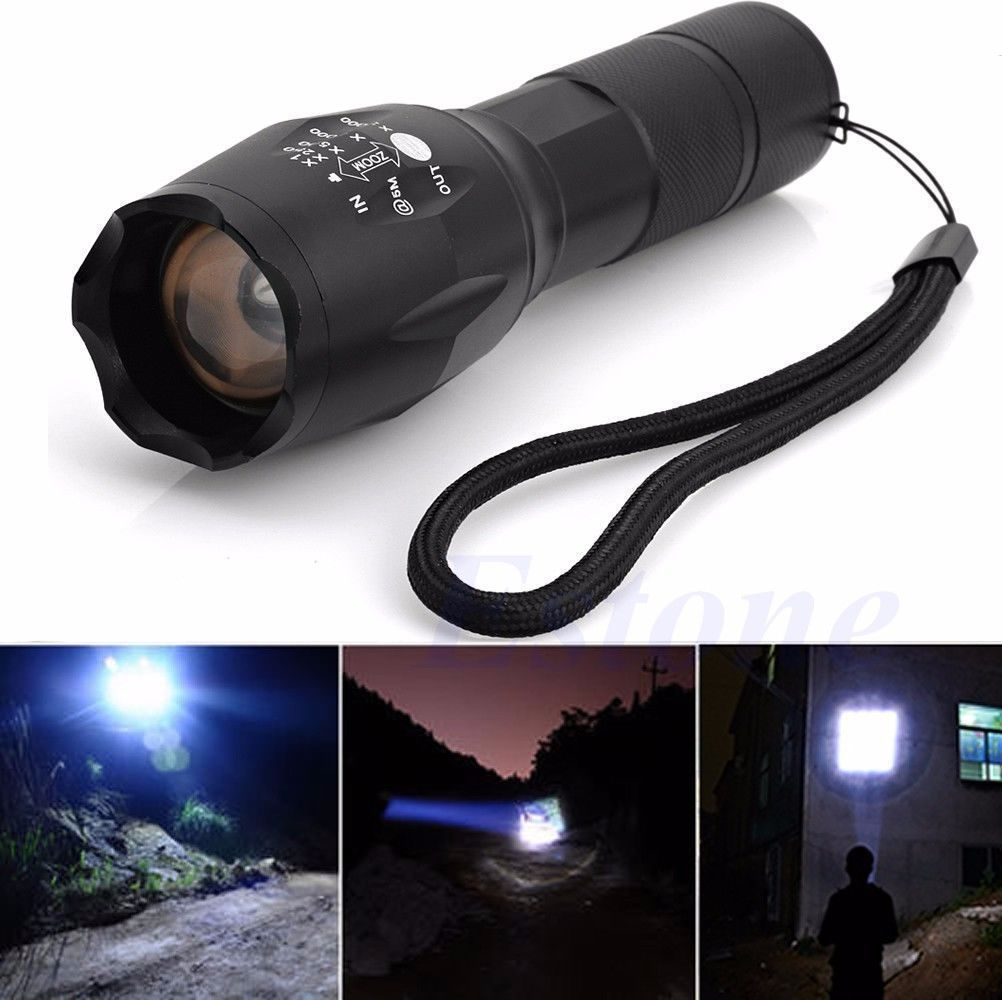 5000 Lumen Super Bright  XML T6 Tactical Zoomable LED Flashlight Torch Lamp