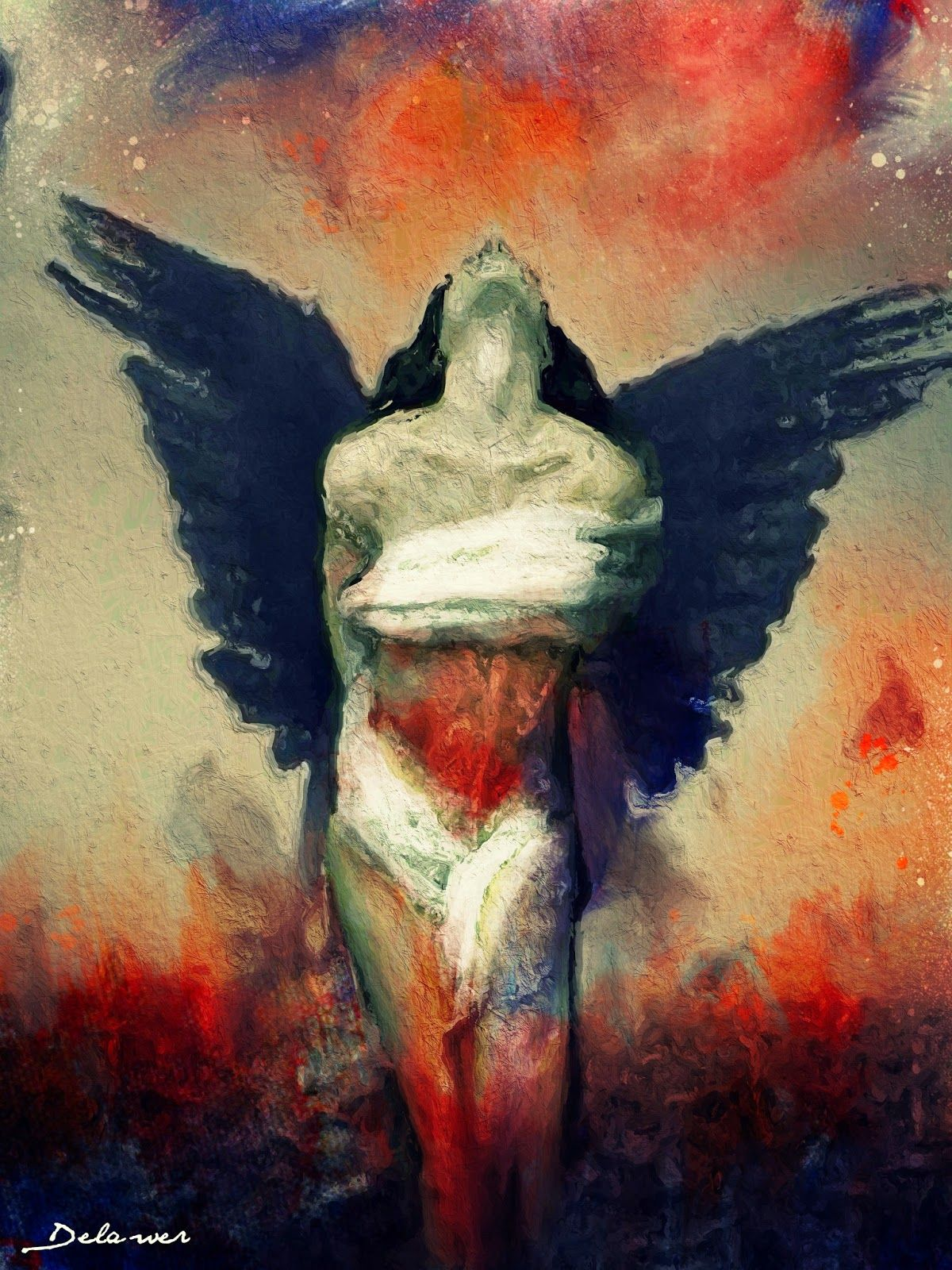 Christ of freedom beautiful emotional oil paintings for Pretty abstract paintings