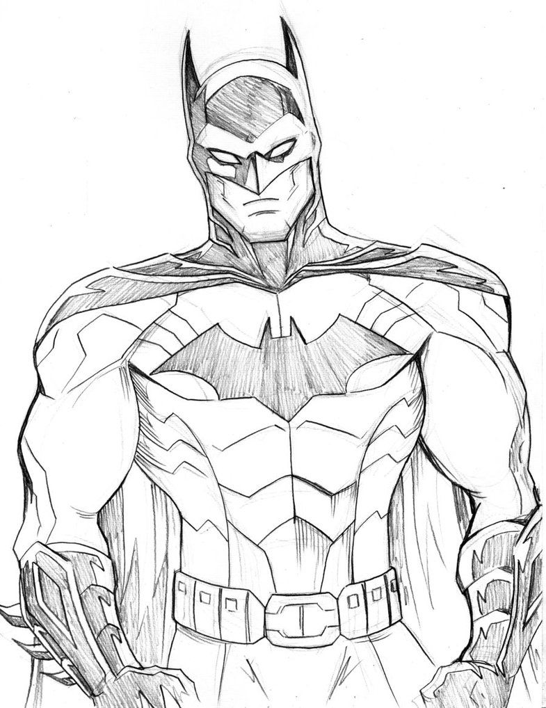 Batman Sketch by LucianoVecchio on DeviantArt | Coloring pages for ...