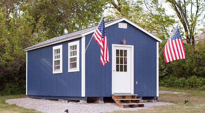 City Builds Tiny Village For Homeless Veterans With 50 Tiny Houses So They Could Live There For Free Tiny House Community Homes For Veterans Homeless Housing