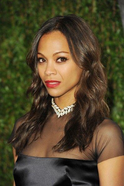 Oscars 2012 Trends: Winged Eyeliner—Zoe Saldana