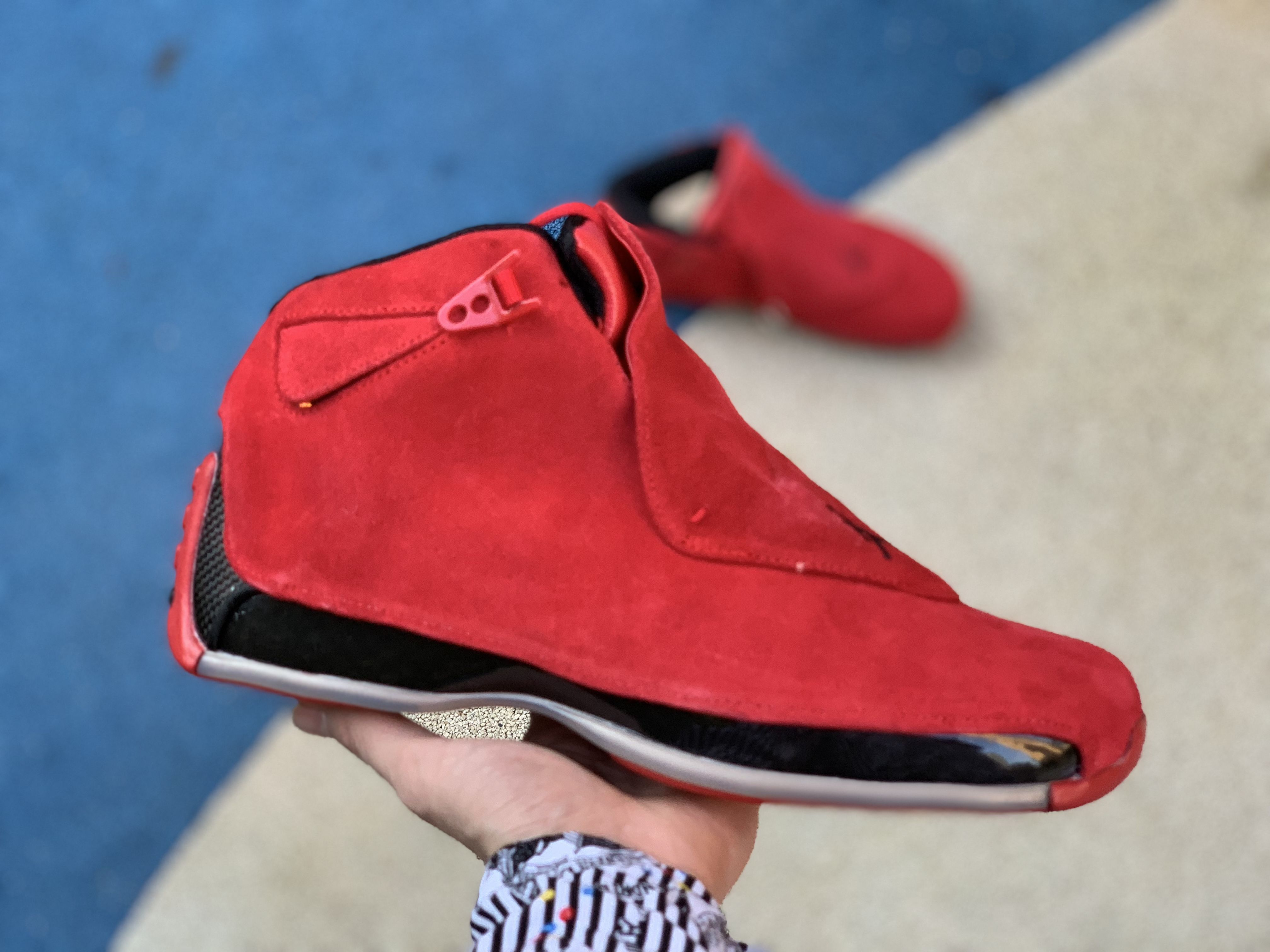 "huge selection of b8a11 d3cd5 Air Jordan 18 Retro ""Red Suede"" Gym Red Black AA2494-601"