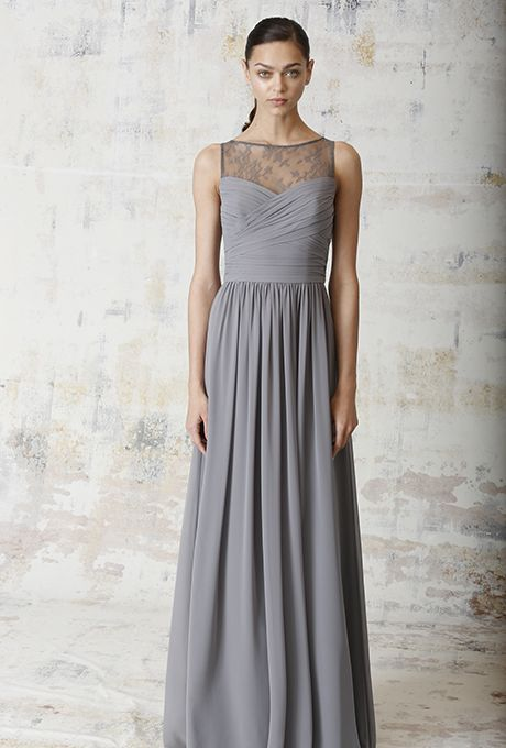 Grey Bridesmaid Dresses | Lace, Grey bridesmaid dresses and Brides
