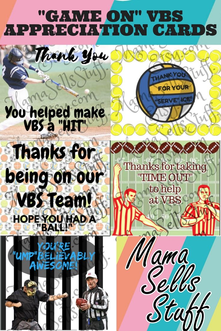 thanks for being on our vbs team hope you had a ball game on teacher rh pinterest com