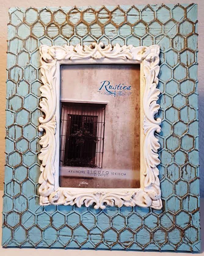 Sicura Italian Design Picture Frames Home Decor Chicken Wire Accent ...