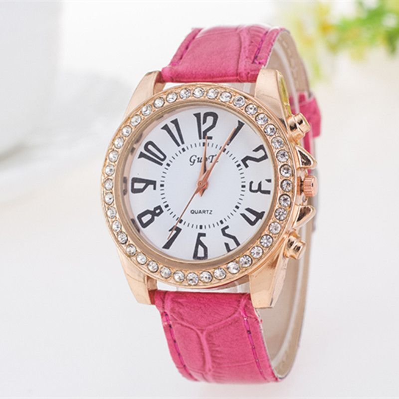 Casual Leather Wrist Watch 3 Colors