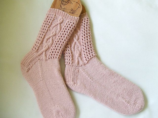 b98dfb15269 Ravelry  Pink Ribbons (Breast Cancer Awareness) Socks - archived FREe knitting  pattern by Lisa Lloyd