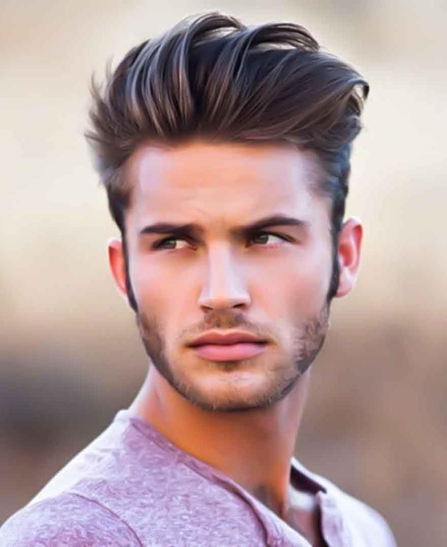 pompadour hairstyle with hair rather high | men hairstyle