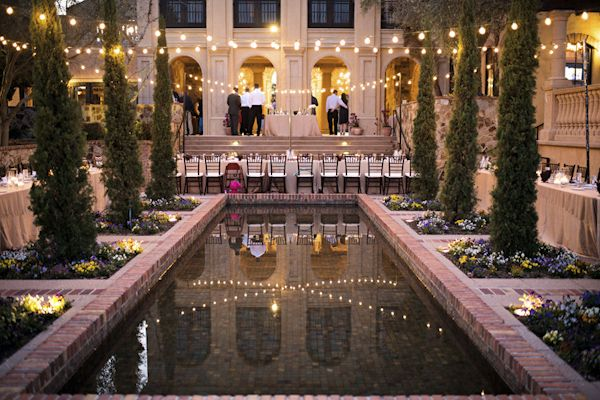 Italian Villa Inspired Wedding In Florida Pool Wedding