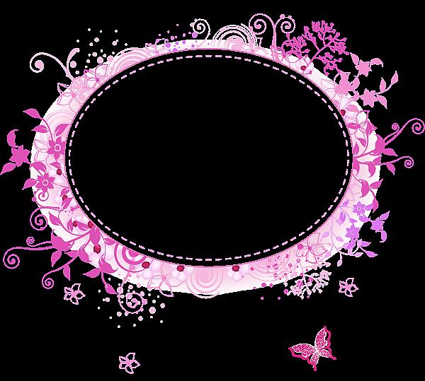 Round Pink Transparent Frame Pink Picture Frames Clip Art Freebies Flower Frame
