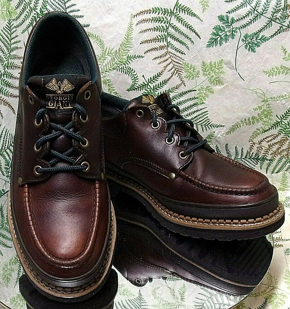 GIANT BROWN LEATHER SNEAKERS SAFETY SHOES WORK