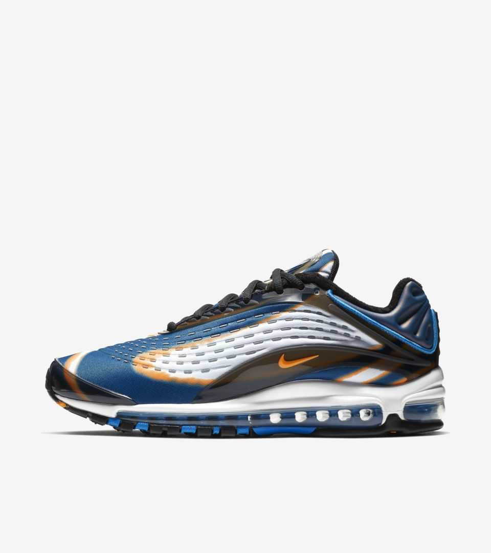 Nike blue white sport shoes for men Nike Air Max Deluxe
