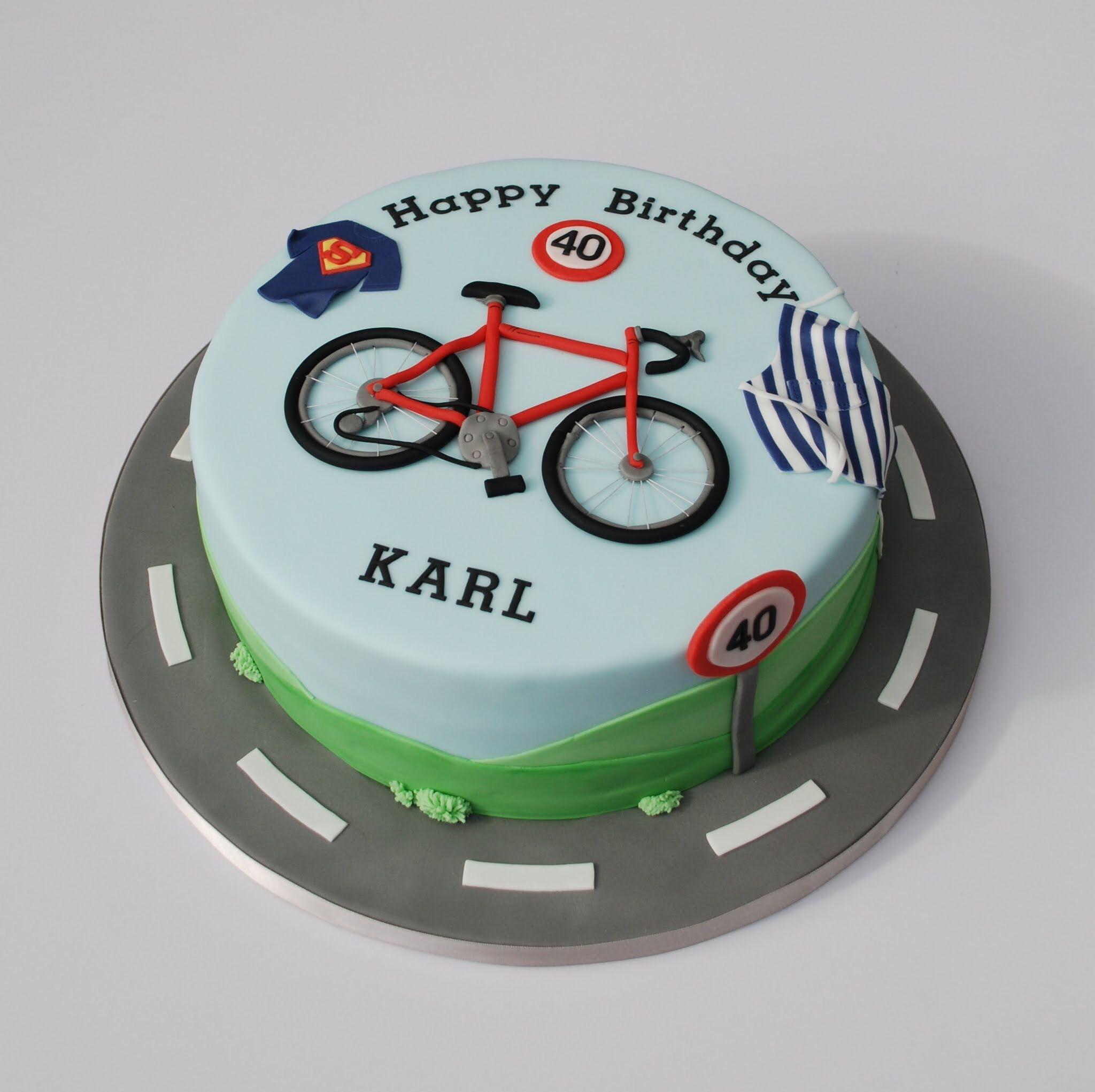 Fondant Bicycle Cake Topper