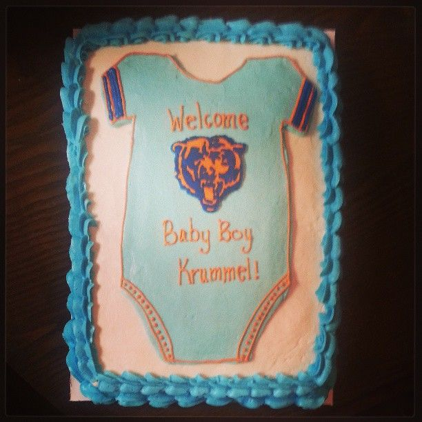 Baby Shower Cakes, Chicago Bears Baby