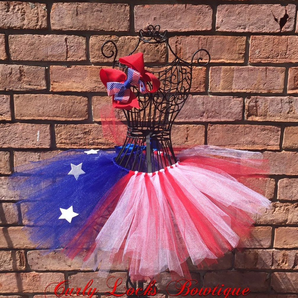 4th of July tutu with matching hairbow