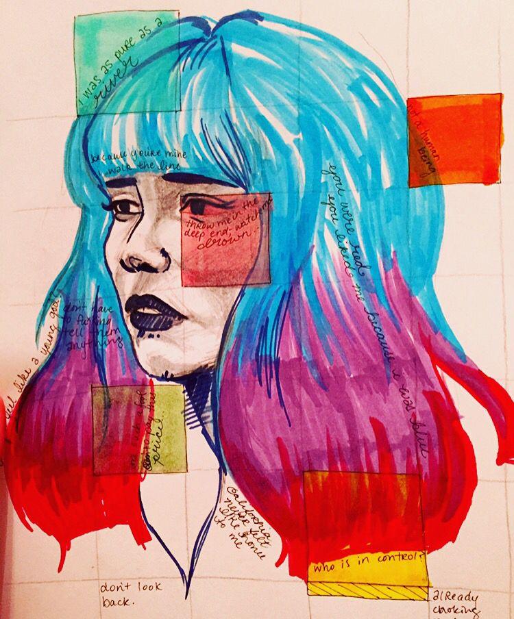 Copic Sketch Of Halsey By Noviebird Tumblr Com M Y A R T Copic