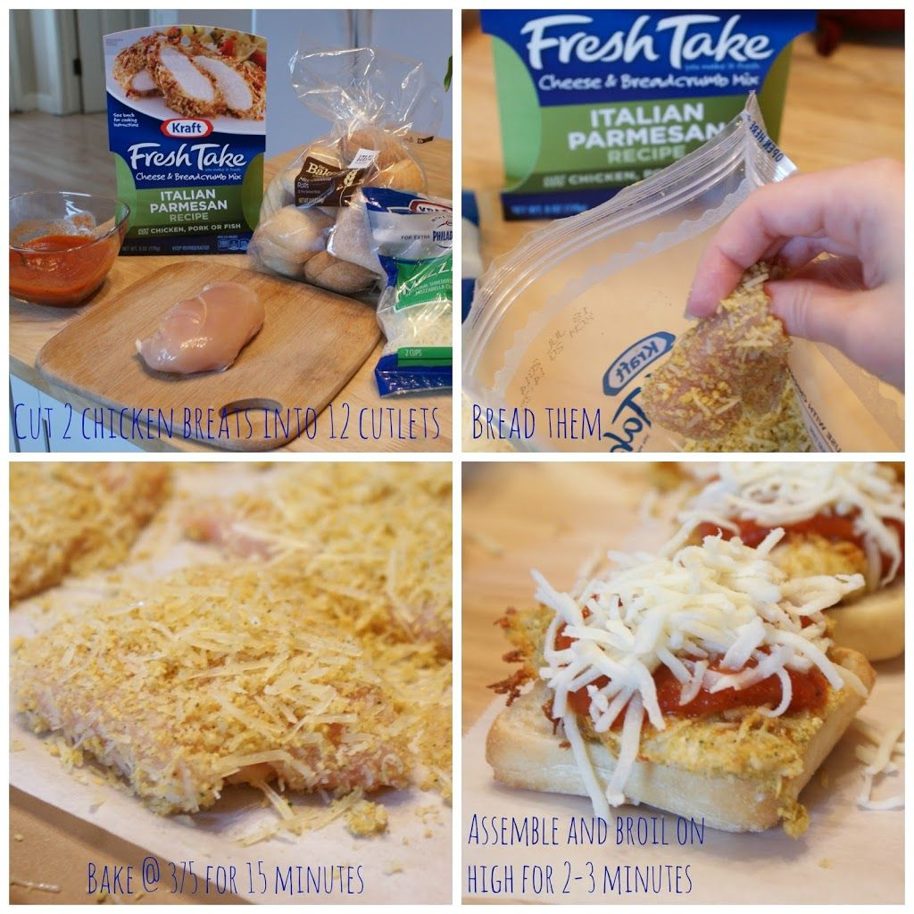 Ciabatta Chicken Parmesan Sliders with Kraft Fresh Take