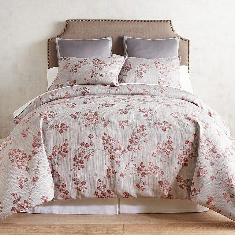 Woven Cherry Blossom Comforter & Sham in 2020 Asian