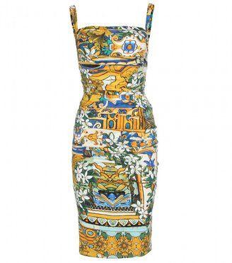 f37e1620 ShopStyle: Dolce & Gabbana DRAPED SILK DRESS | SICILIAN BAROQUE ...