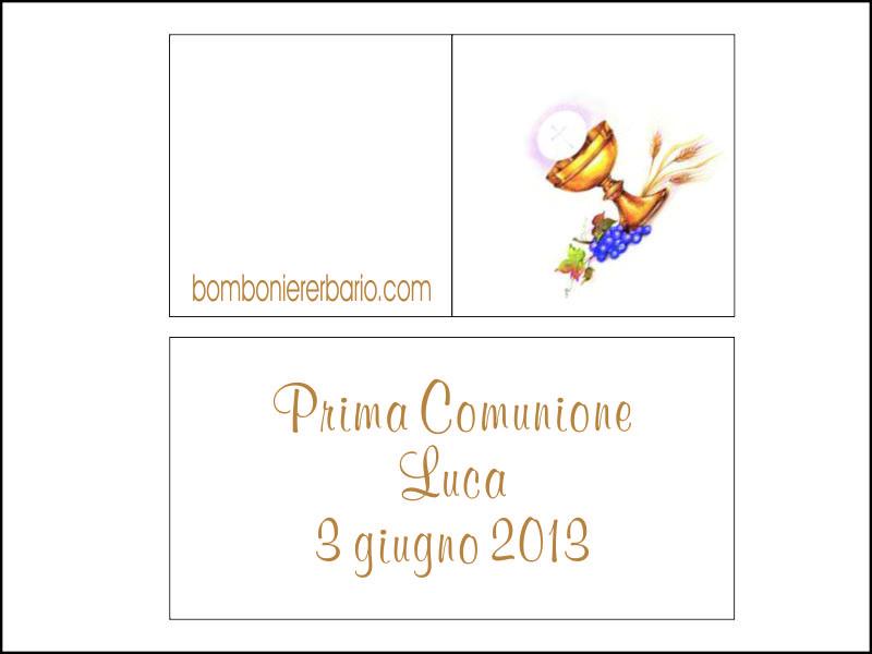 Bigliettini Prima Comunione Per Confetti Da Stampare Gratis Cerca Con Google Prima Comunione Comunione Stampabili Gratis