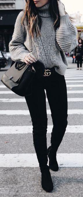 27176d8583 Pin de Beauty and Fashion Ideas en Outfits color negro para invierno ...