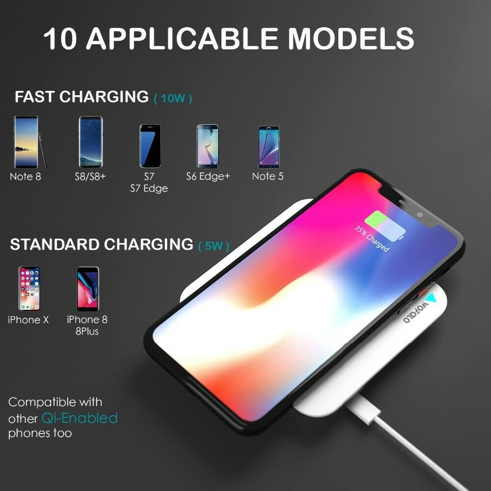 10w fast wireless charger for iphone 8xxr 2 in 1