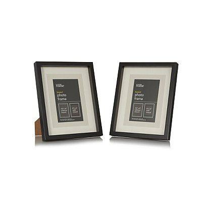 George Home Black Boxed Frame - 8 x 6 Inch (2 Pack) | Frames ...