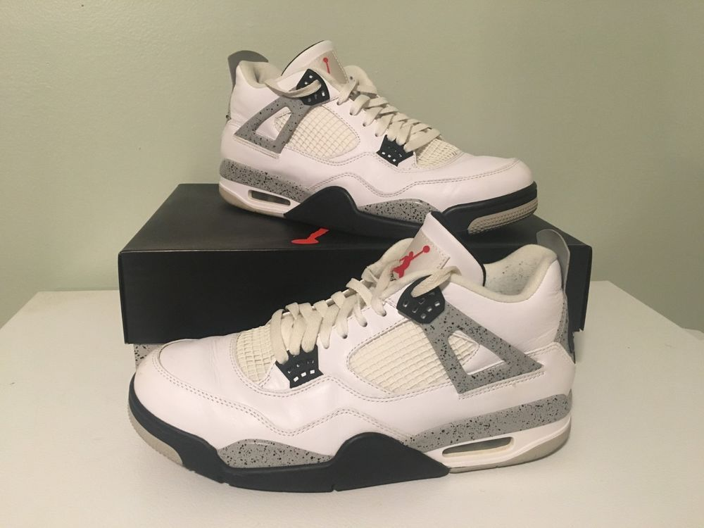 cheap for discount 4c058 1dce6 ... purchase nike air jordan 4 retro og white cement 2016 size us 11.5 used  good 96bc1