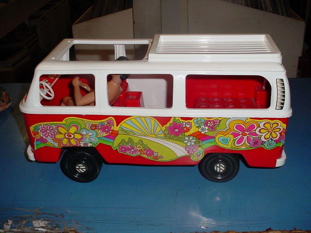 Camper Van Bus Design Collectors Scale Model Love Peace Flower Power Hippy
