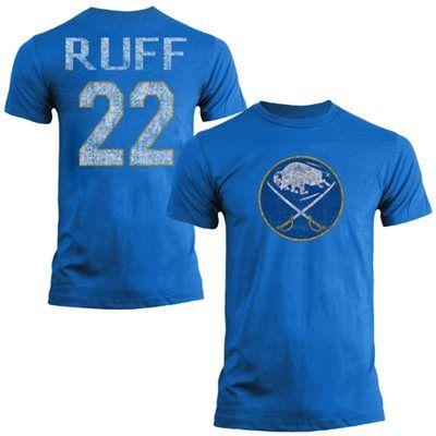 Mens Buffalo Sabres Lindy Ruff Old Time Hockey Royal Blue Name   Number T- Shirt b131b7e0e