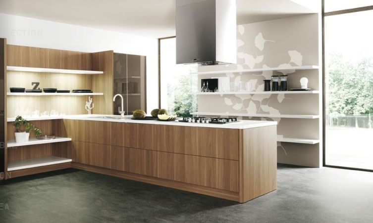 Woodslabmodernkitchenunits 753×451 Pixels  Ideas For The Stunning Modern Wooden Kitchen Designs 2018
