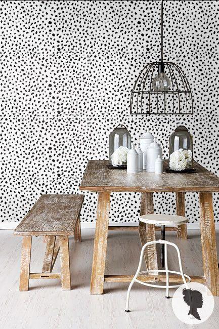 Dalmatian Spot Pattern Peel And Stick Wallpaper M1002 By Livettes