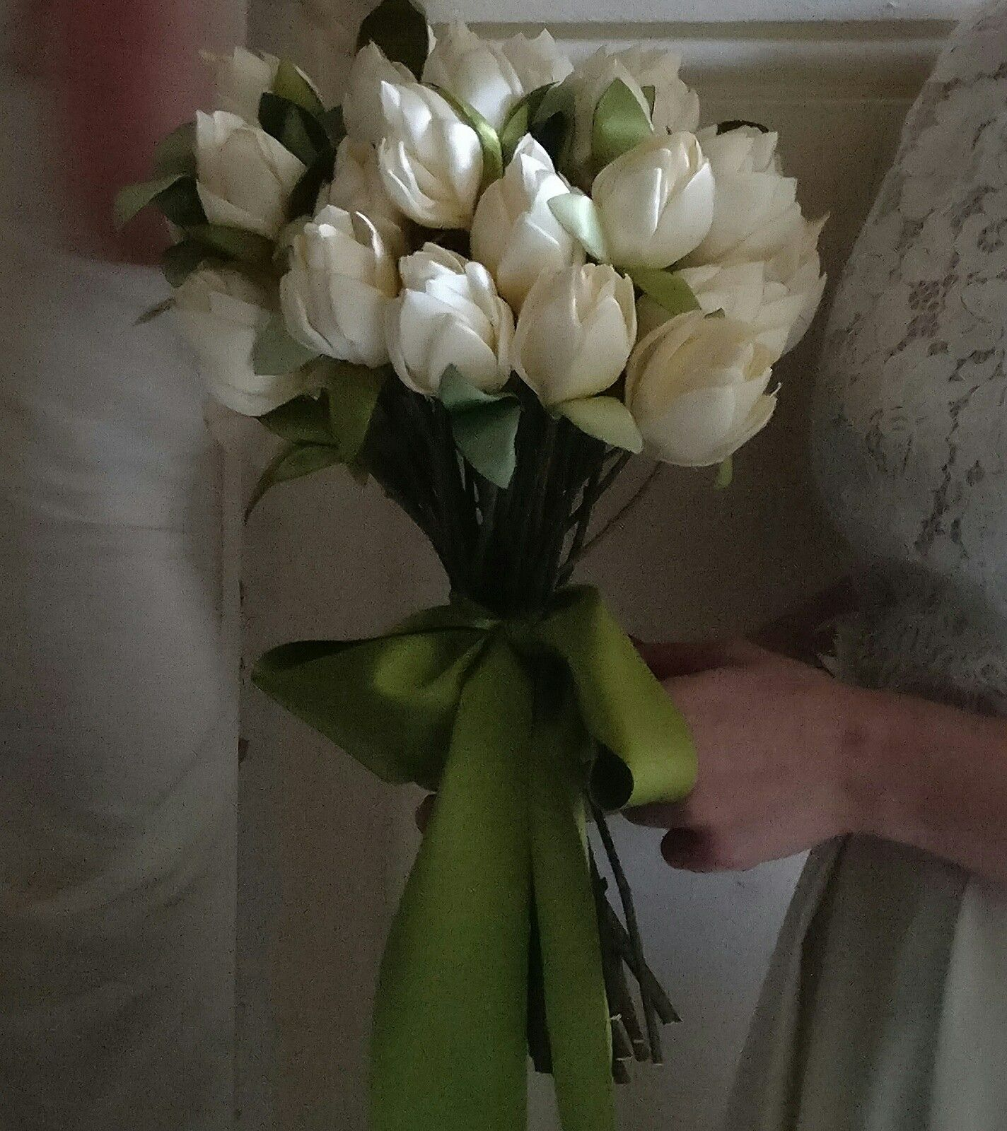Fabric flower bride bouquet by TheElephantJourney