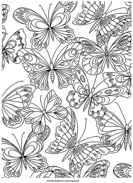 раскраска антистресс бабочки распечатать | Раскраски ...